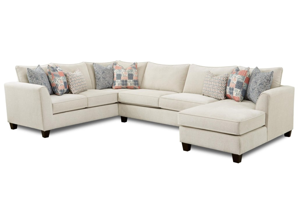 Powell's V.I.P. 283-Piece Sectional with Chaise