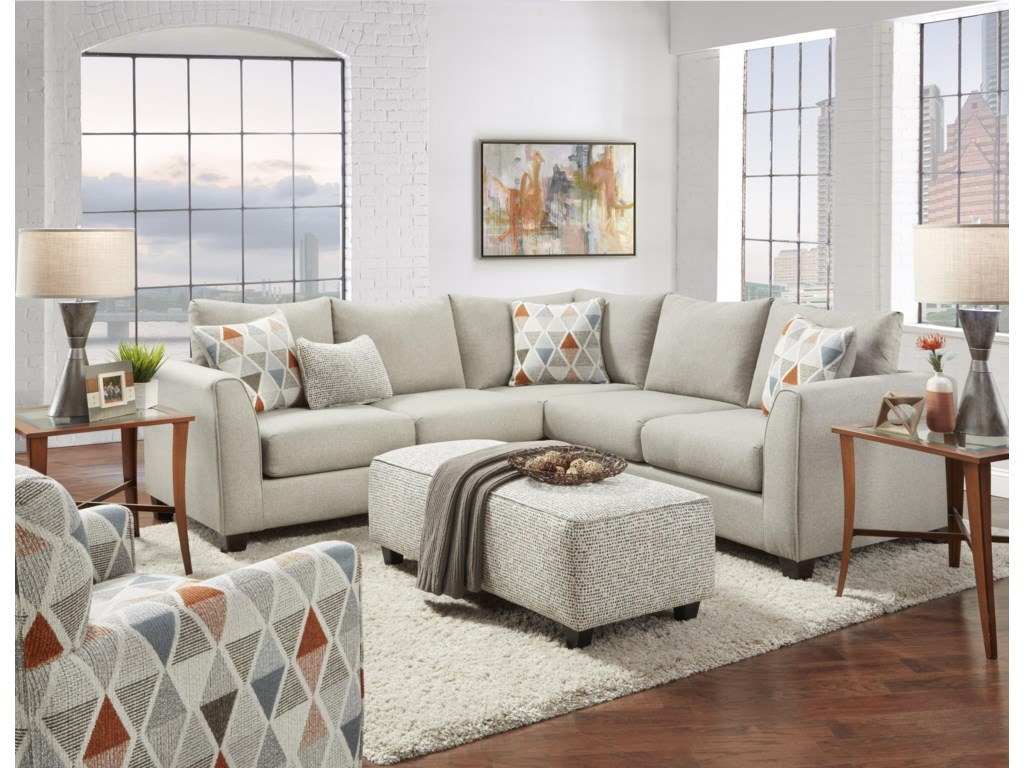 Fusion Furniture 2800Two Piece Sectional