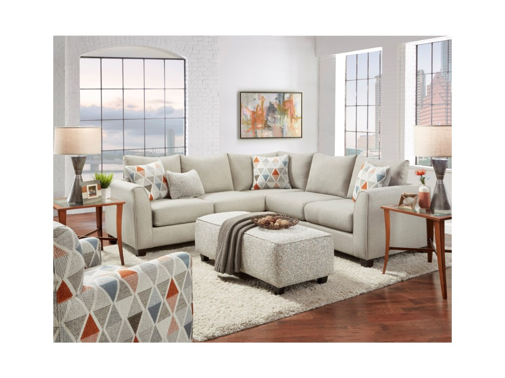 Fusion Furniture 28002-Piece Sectional