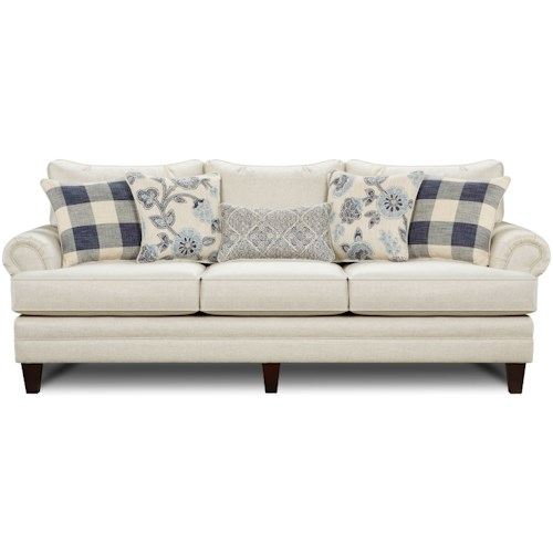 Fusion Furniture 2810 Transitional Sofa with Tapered Legs