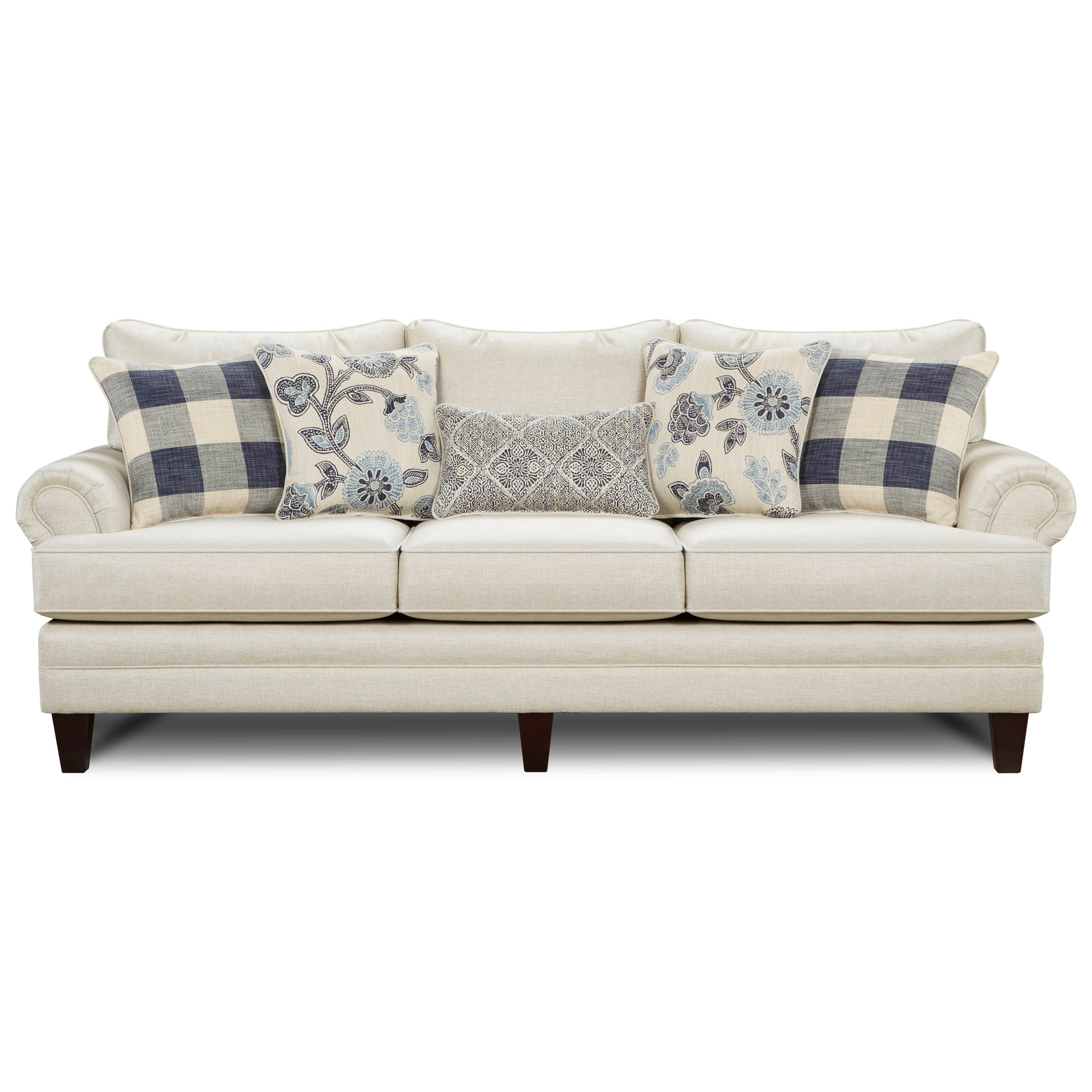 Josephine Transitional Sofa With Tapered Legs By Fusion Furniture