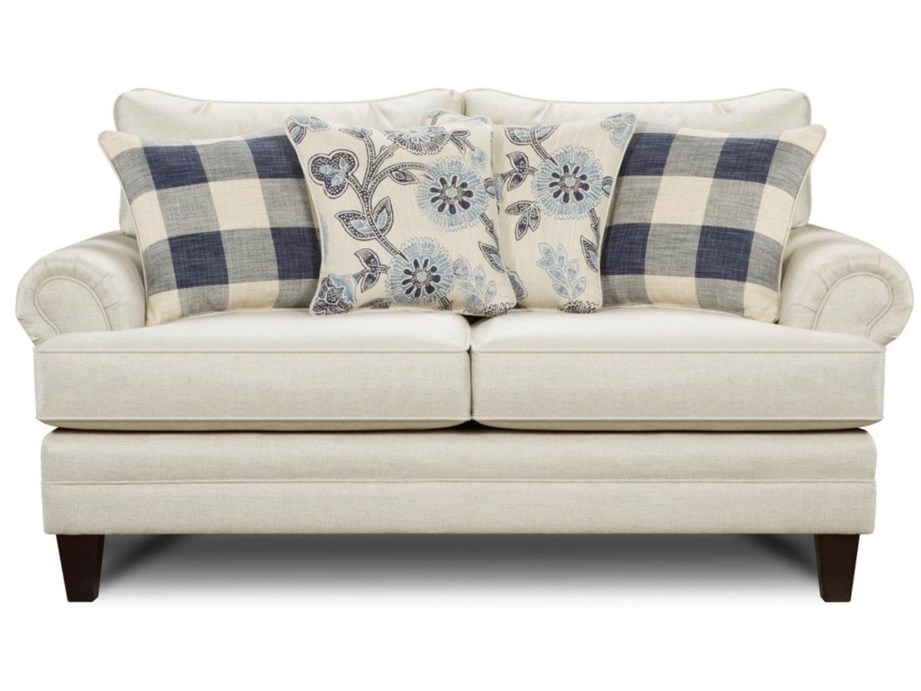 Fusion Furniture 2810Transitional Loveseat