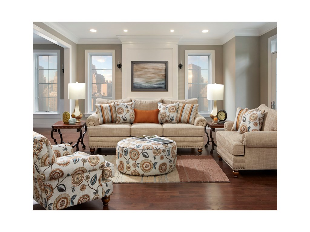 Fusion Furniture 2820Stationary Living Room Group