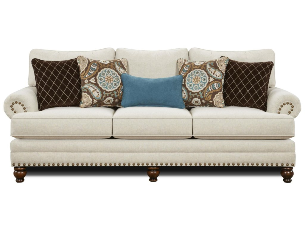 Sofa nailhead trim haskell transitional style nailhead trim sofa thesofa Loveseats with console
