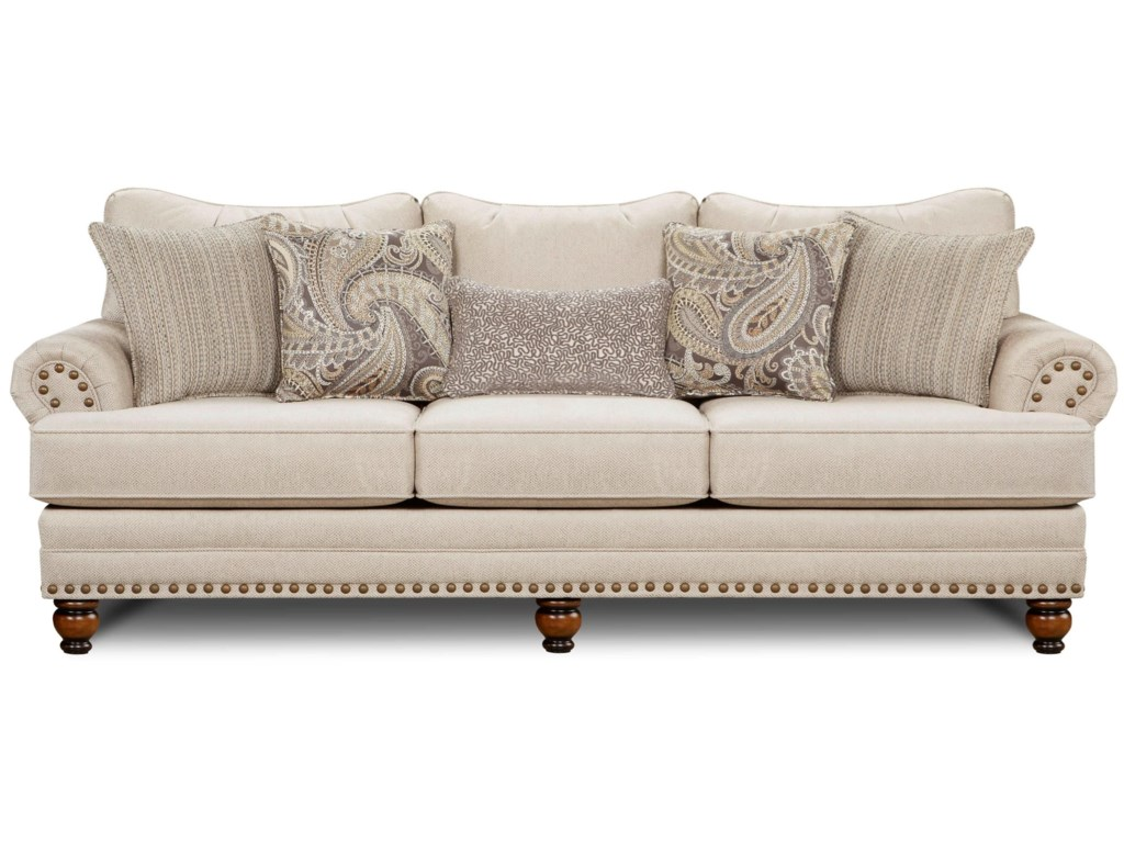2820 Traditional Sofa With Nailhead Trim By Fusion Furniture