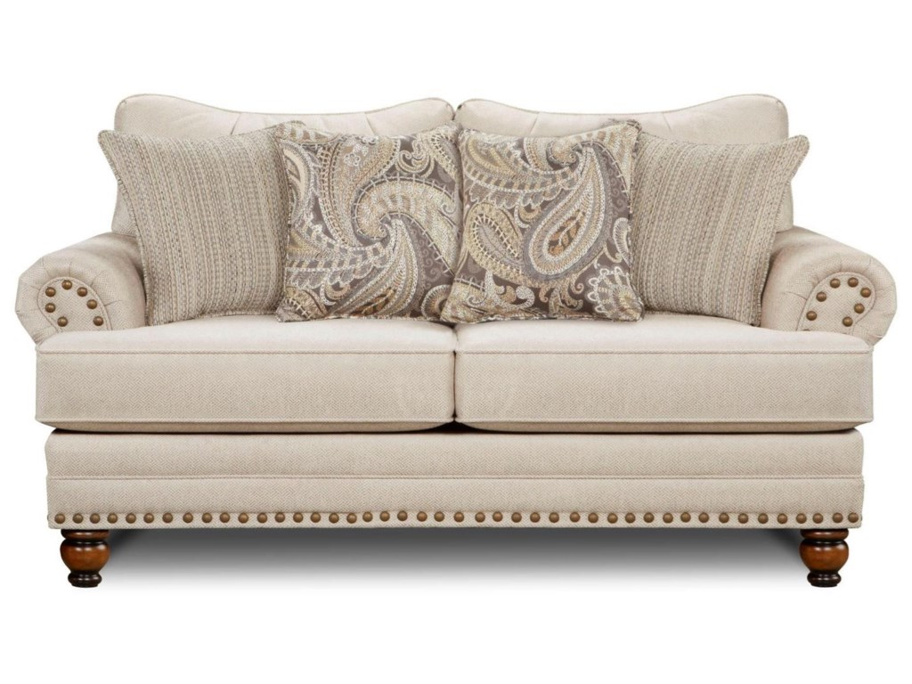 Fusion Furniture 2820Traditional Loveseat