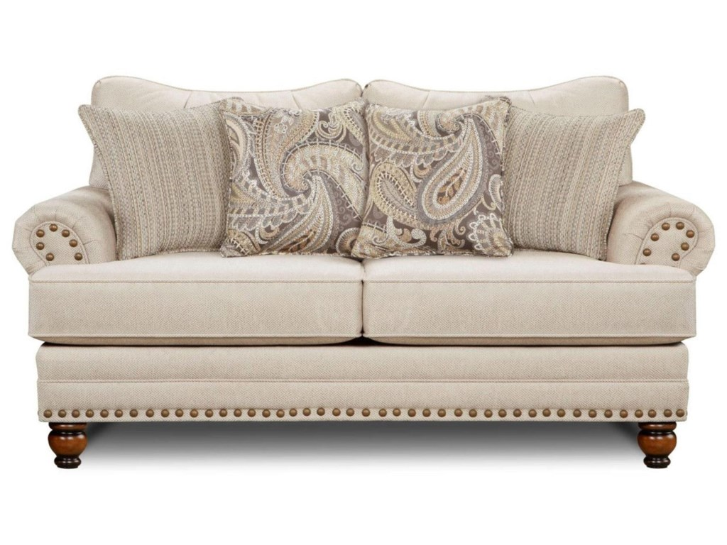 Fusion Furniture 2820Cary's Doe Loveseat