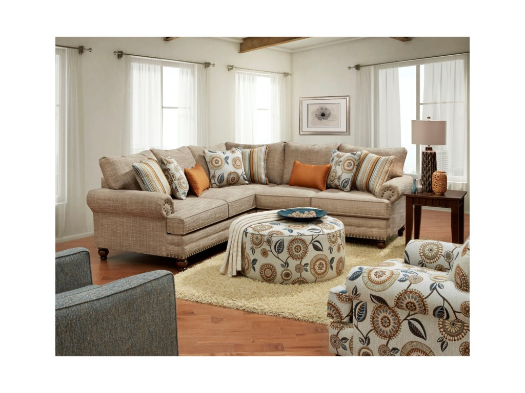 Fusion Furniture 2826-2827Stationary Living Room Group