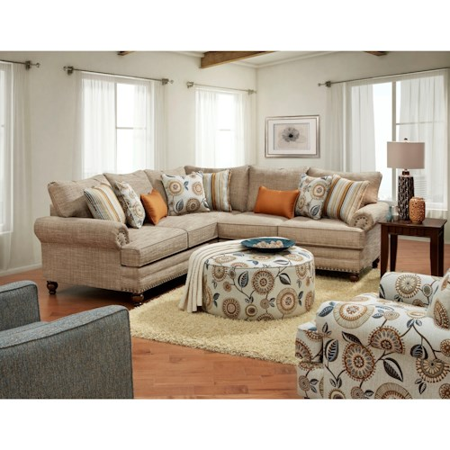 Fusion Furniture 2826-2827 Stationary Living Room Group