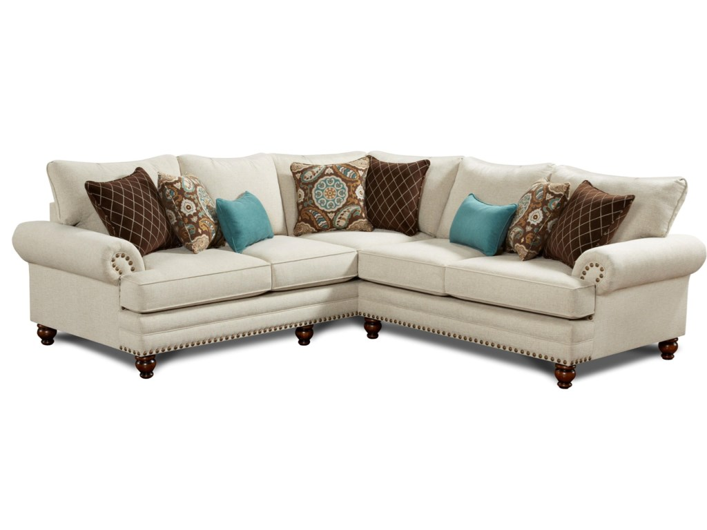 Fusion Furniture 28202-Piece Corner Sectional