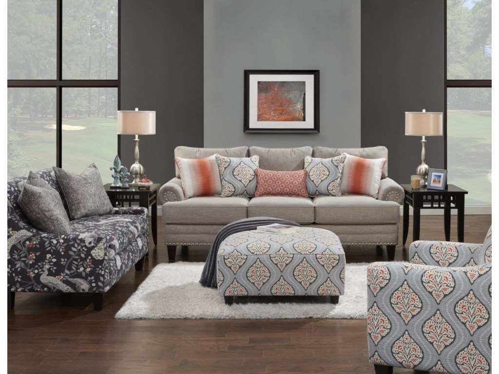 Fusion Furniture 2830Stationary Living Room Group