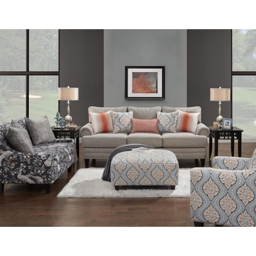 Fusion Furniture 2830 Stationary Living Room Group