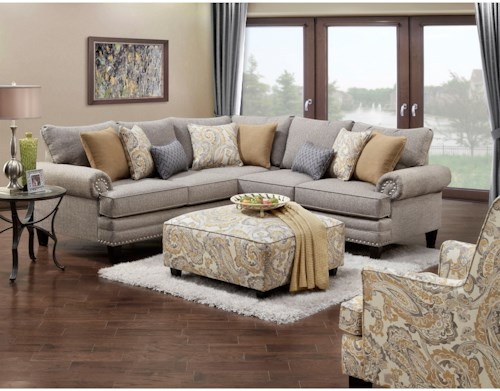 Fusion Furniture 2836-2837 Stationary Living Room Group