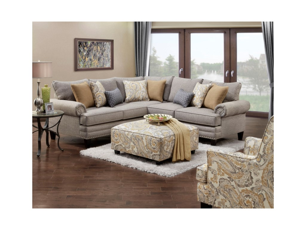 Fusion Furniture 2836-28372-Piece Corner Sectional