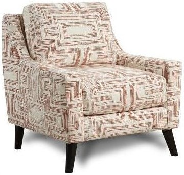 Fusion Furniture 290 Chair Upholstered Chair with Curving Track Arms