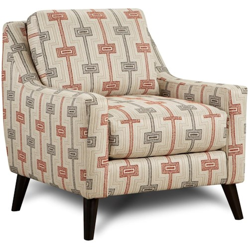 Fusion Furniture 290 Upholstered Chair with Curving Track Arms