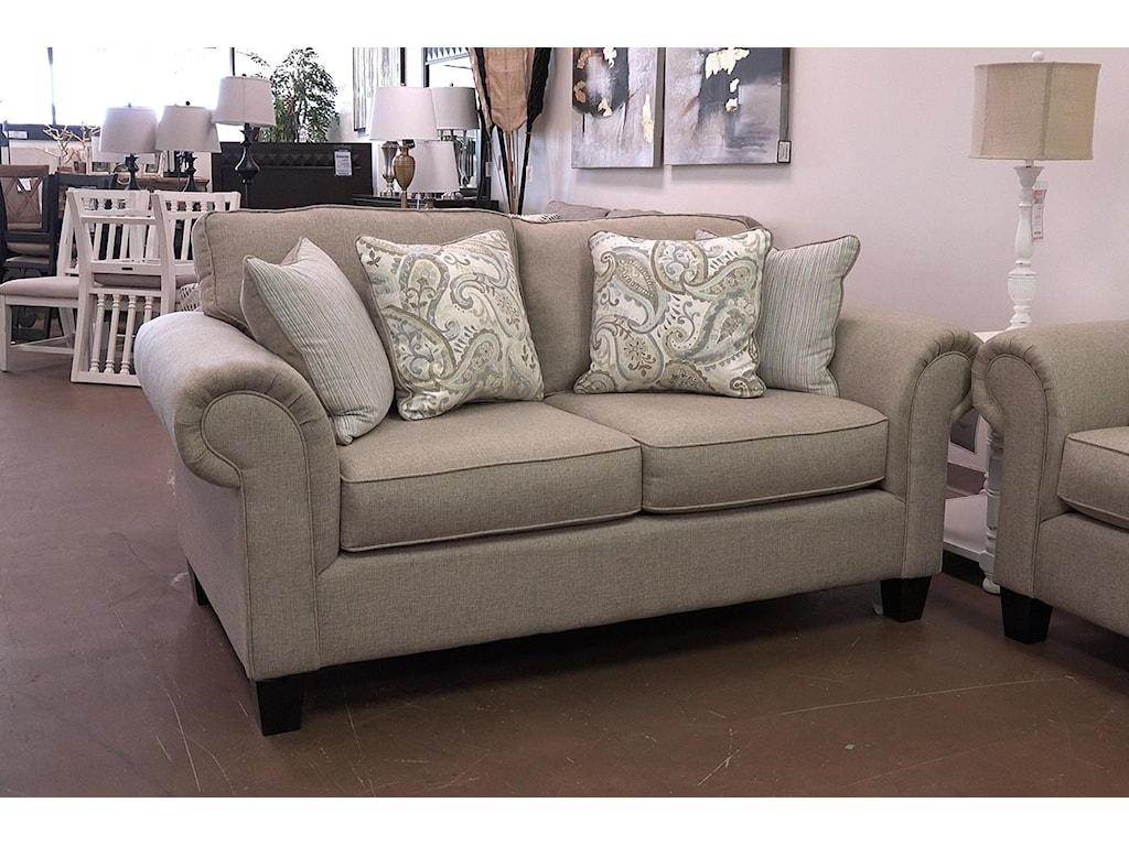 Fusion Furniture 3100Bongo Camel Loveseat
