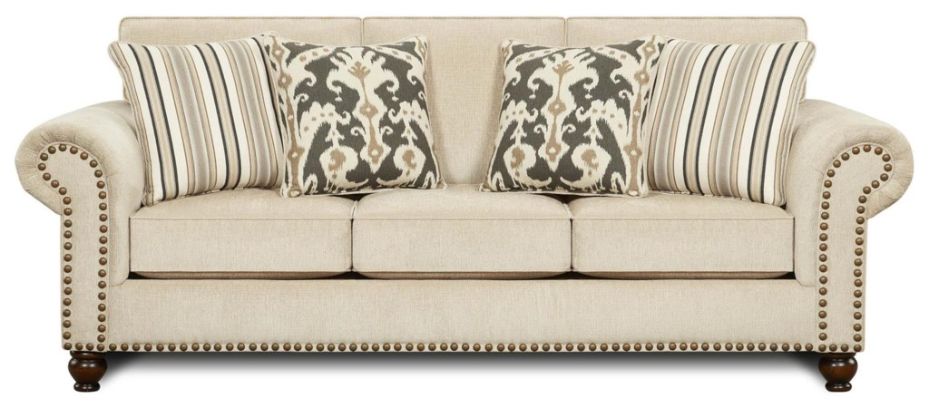 Fairleigh Transitional Sofa With Nailhead Trim Belfort Furniture  ~ What Is A Transitional Sofa