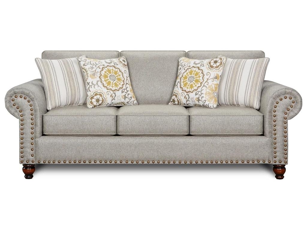 Fusion Furniture Turino SisalRomero Sterling Sofa