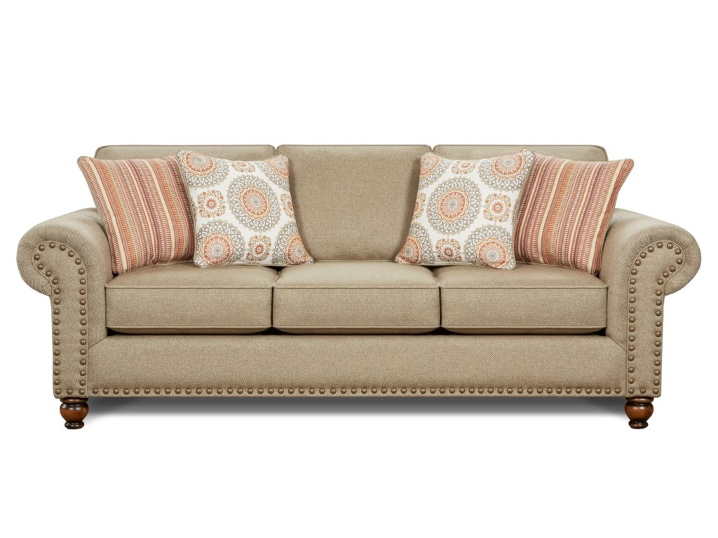 Fusion Furniture Turino SisalTurino Sisal Queen Sofa Sleeper