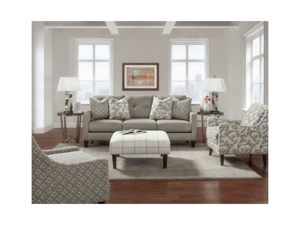 Stationary Living Room Group 3280 By Fusion Furniture Wilcox