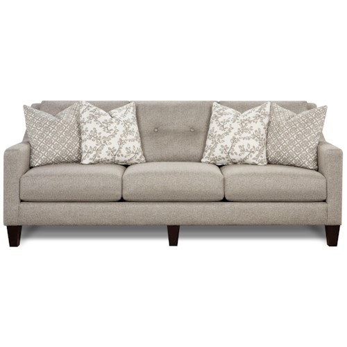 Fusion Furniture 3280 Contemporary Sofa with Track Arms