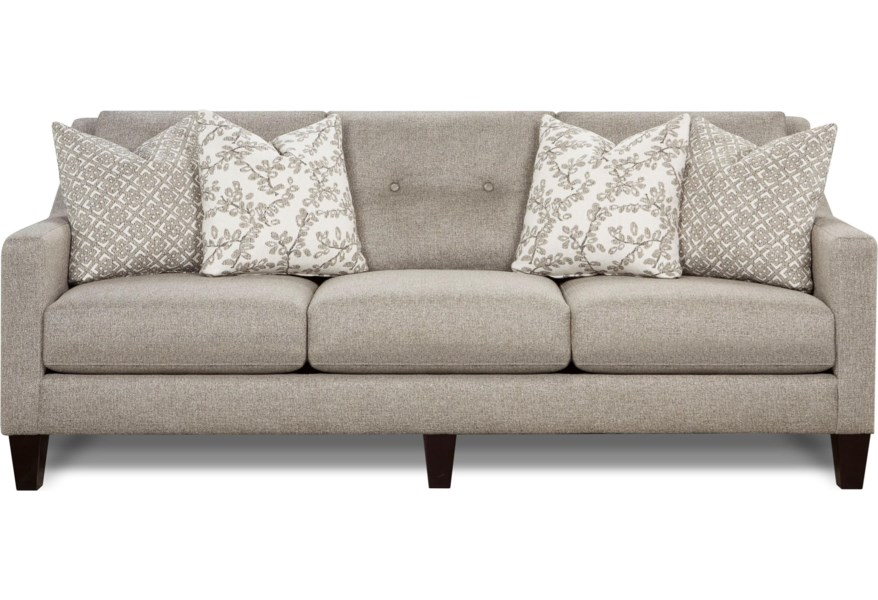 Fusion Furniture 3280 Contemporary Sofa With Track Arms Darvin Sofas