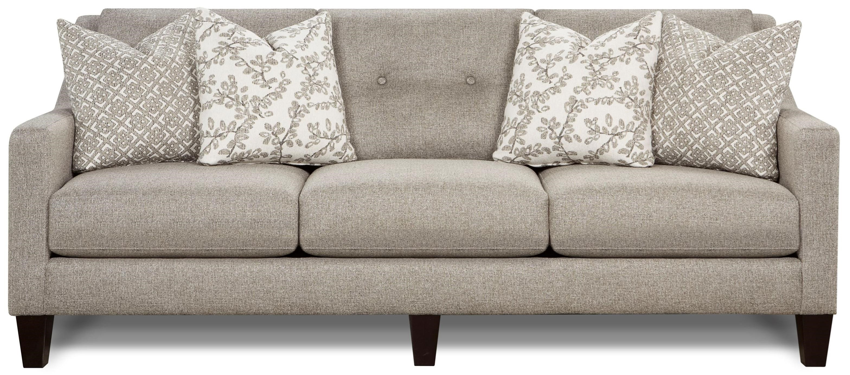 Fusion Furniture CarlaSofa Stone With Track Arm ...