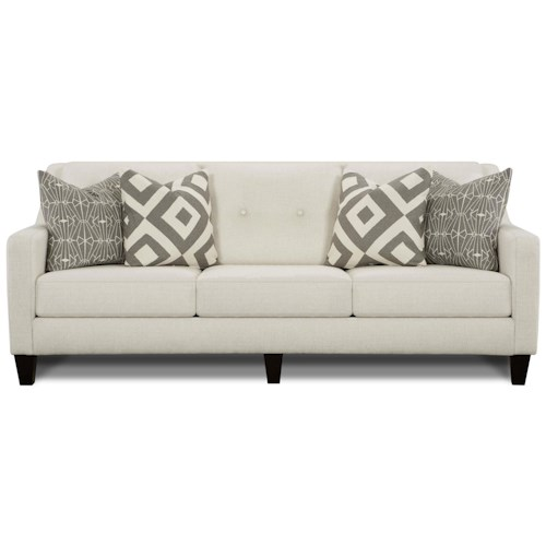 Fusion Furniture Emblem Contemporary Sofa with Track Arms