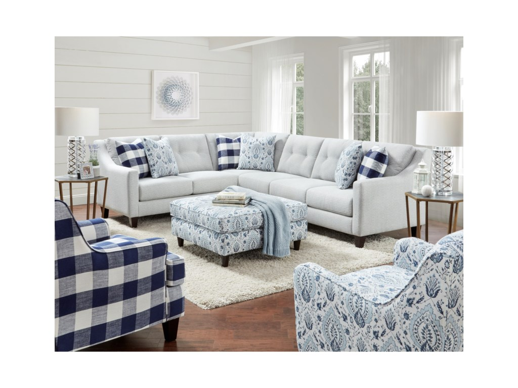 Fusion Furniture 32802-Piece Sectional