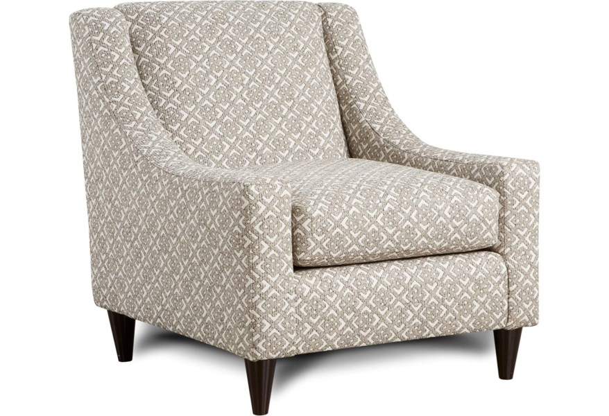 Accent Chairs.Fusion Furniture Carla Accent Chair With Sloping Track Arms Mid