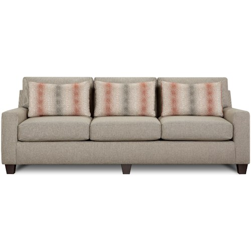 Fusion Furniture 3320 Contemporary Sofa with Low Track Arms