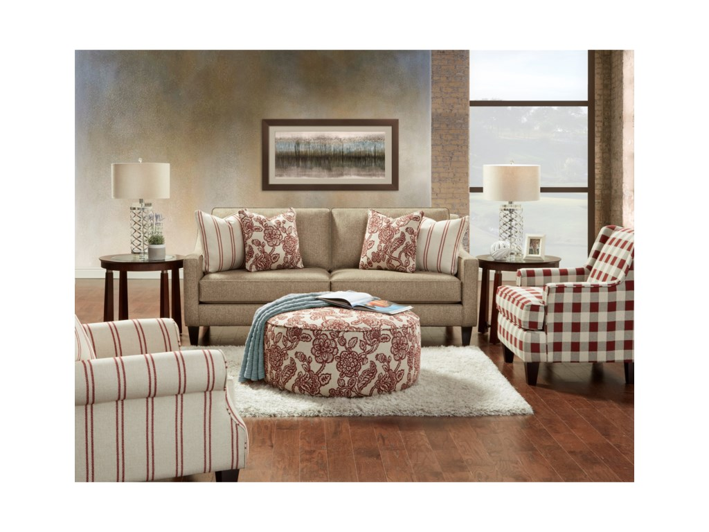 Fusion Furniture 3350Stationary Living Room Group