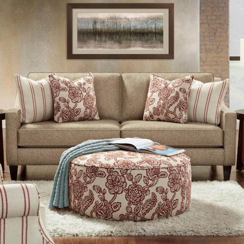 Fusion Furniture 3350 Sofa with Low Track Arms