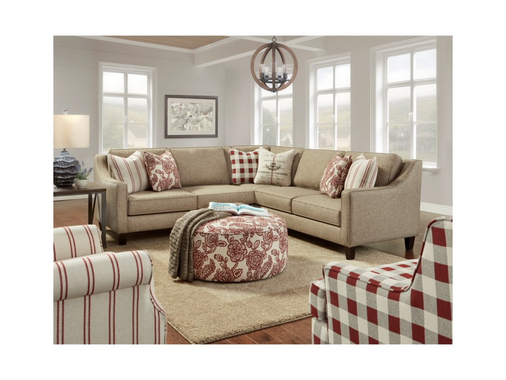 Fusion Furniture 33503-Piece Sectional
