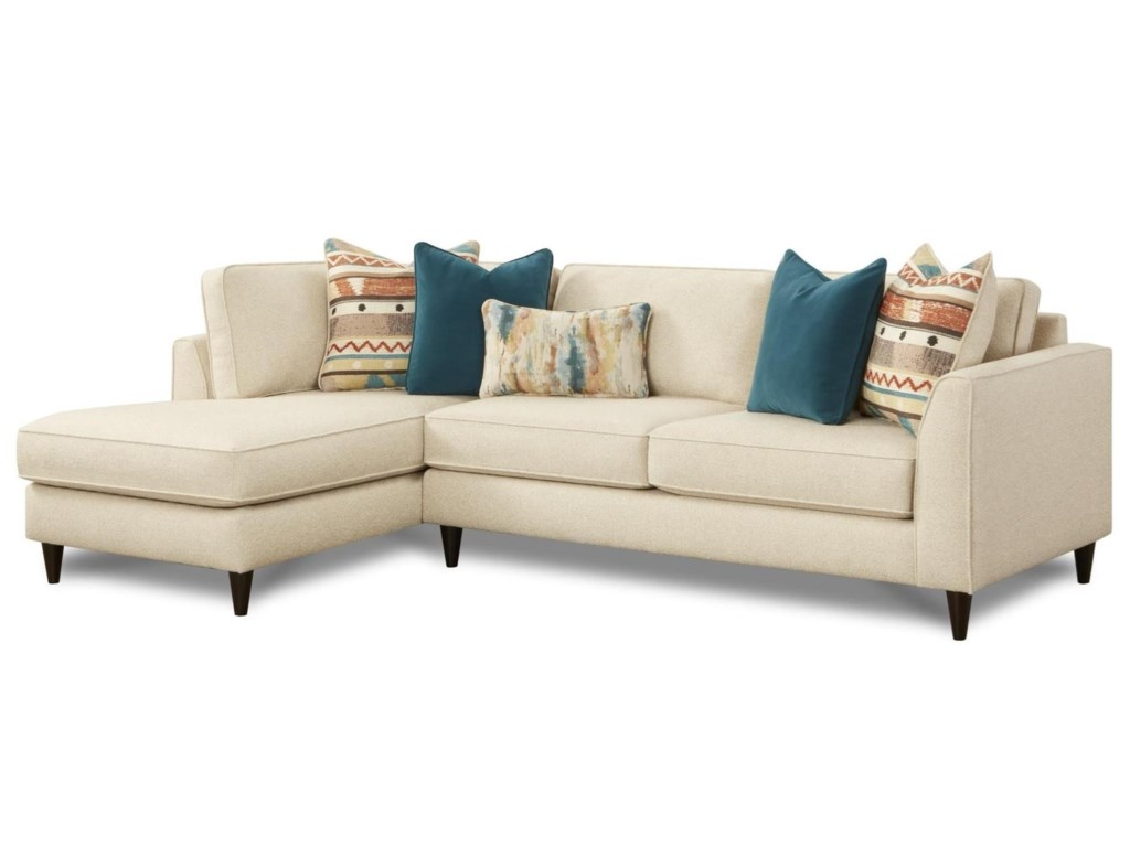 Fusion Furniture 34-312 Pc Sofa w/ LAF Chaise