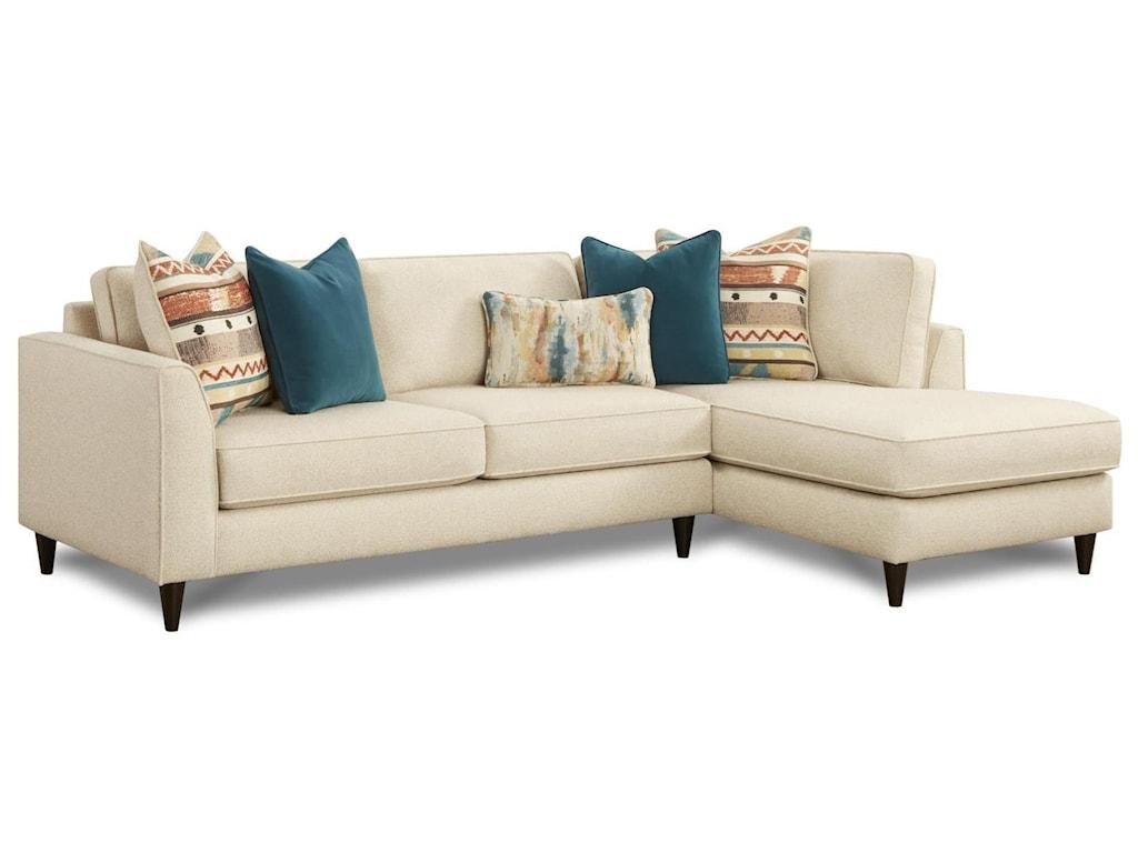Fusion Furniture 34-312 Pc Sofa w/ RAF Chaise