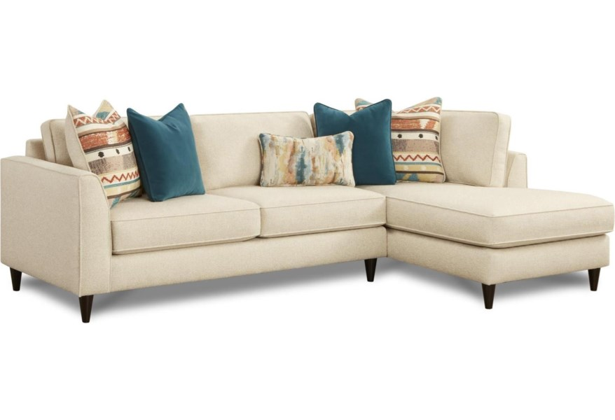 34 31 2 Piece Contemporary Sectional Sofa With Right Arm Facing Chaise By Fusion Furniture At Standard