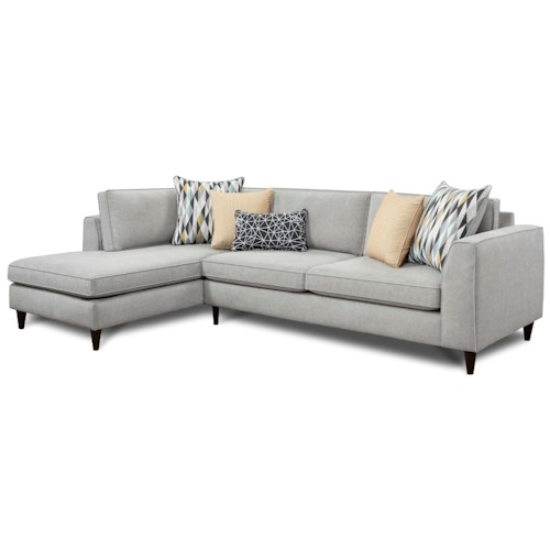 Fusion Furniture 3400 Modern 2 Piece Sectional With Left Chaise Pilgrim Furniture City