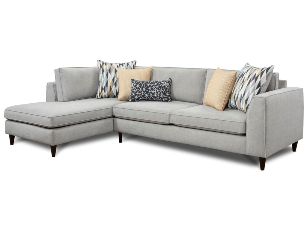 Fusion Furniture 34002-Piece Sectional with Left Chaise