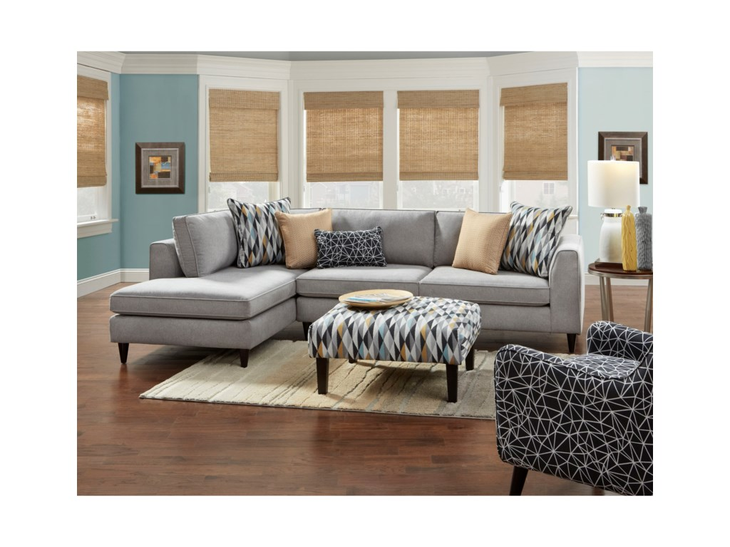 Haley Jordan 34002-Piece Sectional with Left Chaise