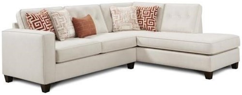 Fusion Furniture 3515 Two Piece Sectional with Track Arms
