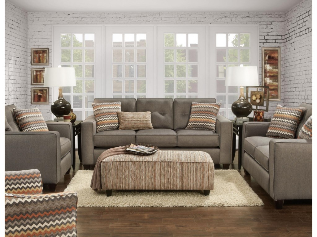 Fusion Furniture 3560BStationary Living Room Group