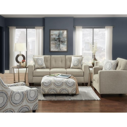 Fusion Furniture 3560B Stationary Living Room Group