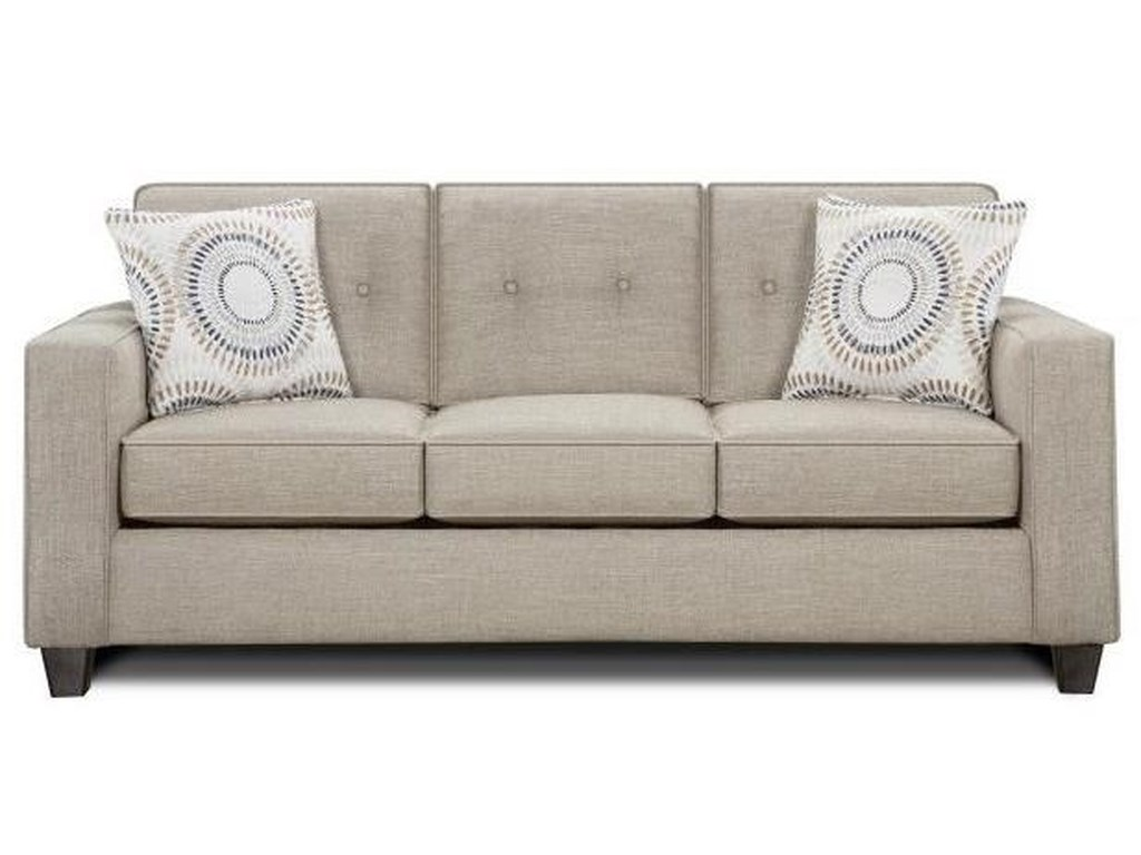 Fusion Furniture 3560B Contemporary Sleeper Sofa with Track ...