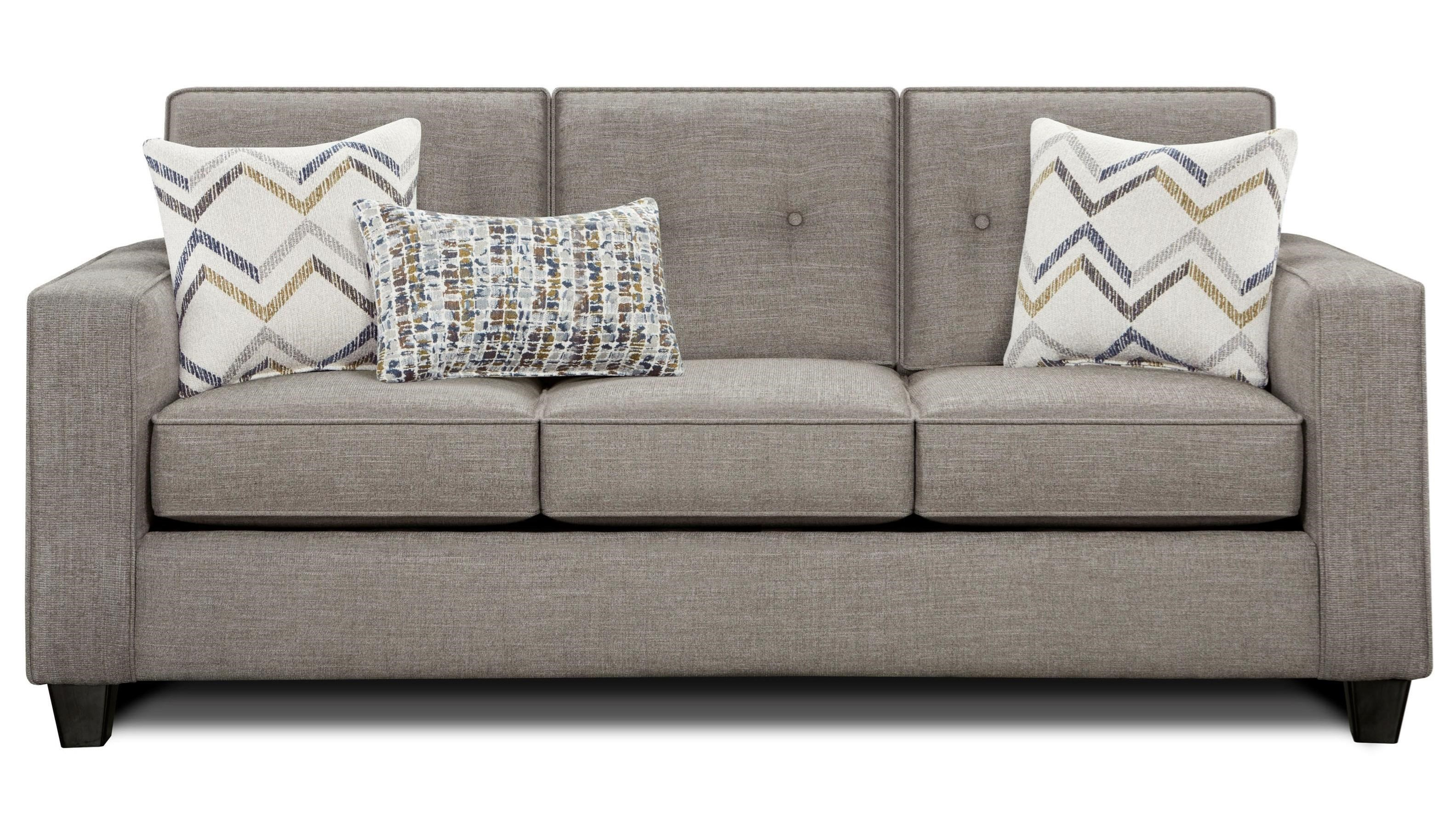 Fusion Furniture 3570B Sleeper Sofa With Track Arms And Button Tufted  Cushions