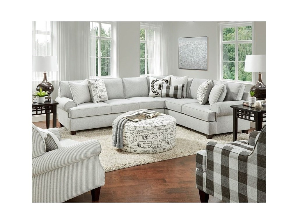 Fusion Furniture 39-002-Piece Sectional