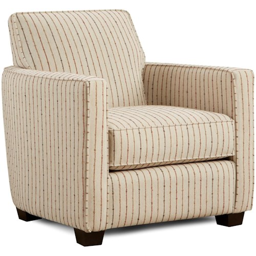 Fusion Furniture 402 Upholstered Chair with Track Arm