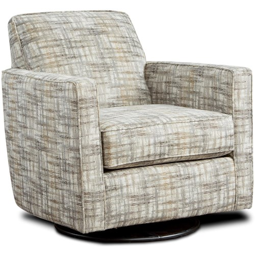 Fusion Furniture 402-G Contemporary Swivel Glider with Track Arms