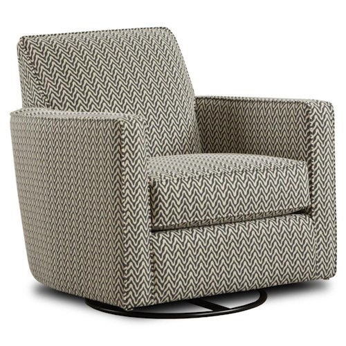 Fusion Furniture Gliders Contemporary Swivel Glider with Track Arms
